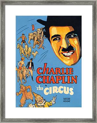 The Circus, Charlie Chaplin, 1928 Framed Print by Everett