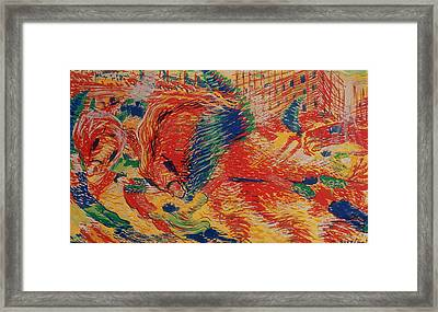 The City Rises Framed Print by Umberto Boccioni