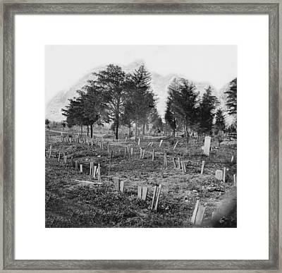 The Civil War, Graves Of Confederate Framed Print by Everett