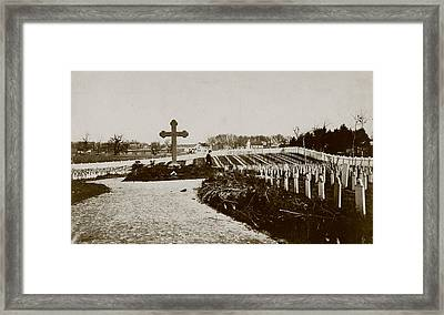 The Civil War, Soldiers Cemetery Framed Print by Everett