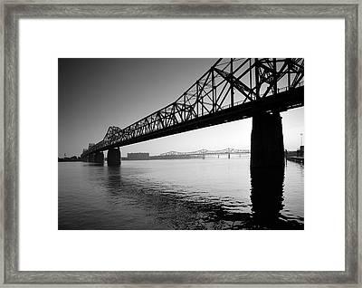 The Clark Memorial Bridge II Framed Print by Steven Ainsworth