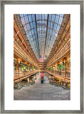 The Cleveland Arcade II Framed Print by Clarence Holmes