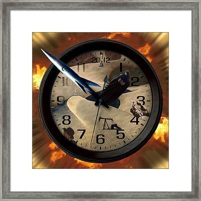 The Clock Is Ticking Framed Print by E  Kraizberg