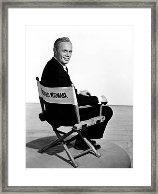 The Cobweb, Richard Widmark, 1955 Framed Print by Everett