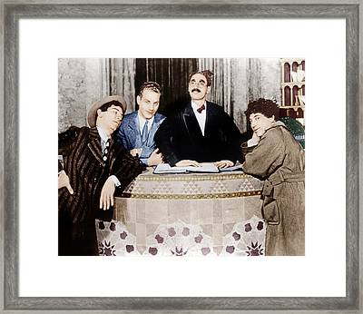 The Cocoanuts, From Left Chico Marx Framed Print by Everett