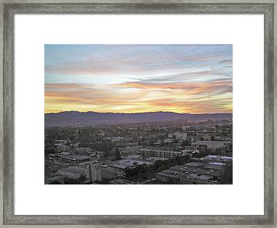 The Colors Of The Sky Over San Jose At Sunset Framed Print by Ashish Agarwal