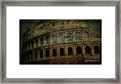 The Colosseum Of Rome Framed Print by Lee Dos Santos
