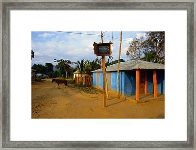 The Community Television Set Framed Print by James P. Blair