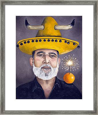 The Competitive Sombrero Couple 2 Framed Print by Leah Saulnier The Painting Maniac