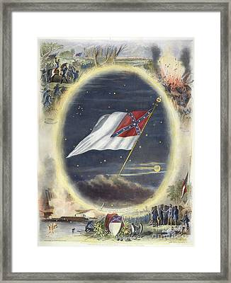The Confederate Flag, 1867 Framed Print by Granger