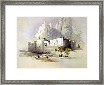 The Convent Of St. Catherine Mount Sinai Framed Print by Munir Alawi
