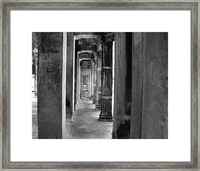 The Corridor Framed Print by Donna Caplinger