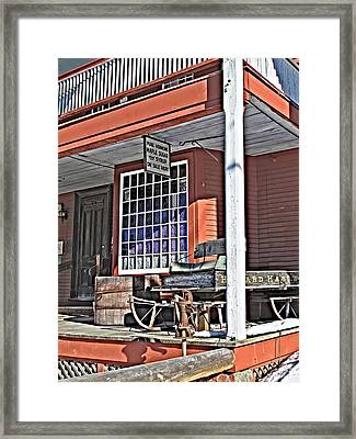 The Country Store Framed Print by Linda Pulvermacher