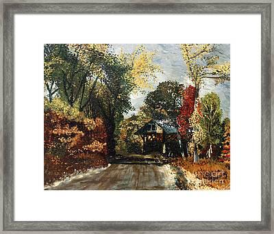 The Covered Bridge Framed Print by Elena Irving