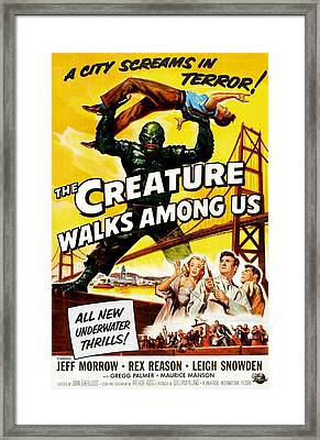 The Creature Walks Among Us, Don Framed Print by Everett
