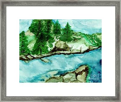 The Creek Bend Framed Print by Marsha Heiken