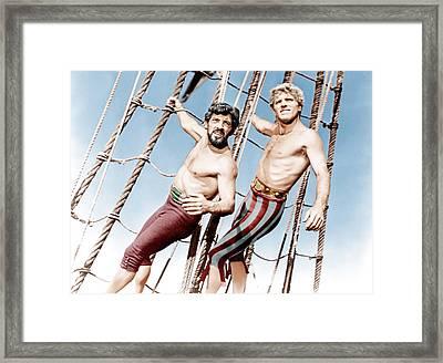 The Crimson Pirate, From Left Nick Framed Print by Everett
