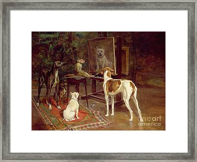 The Critics Framed Print by A Vimar