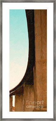 The Crockett Carquinez Bridge Skyway In Abstract Framed Print by Wingsdomain Art and Photography