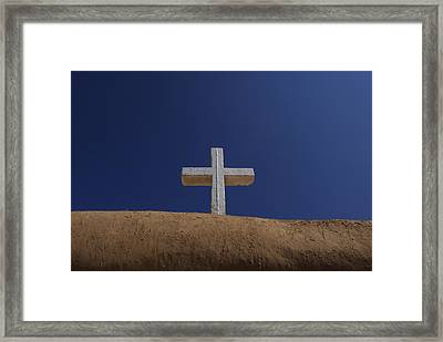 The Cross Above Saint Francis Catholic Framed Print by Raul Touzon