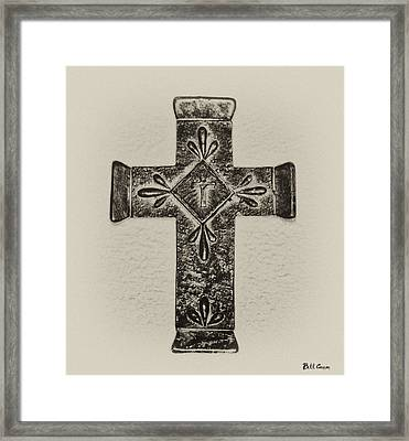 The Cross Framed Print by Bill Cannon