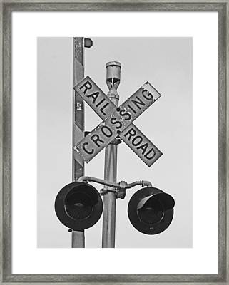 The Crossing Framed Print by Caroline Lomeli