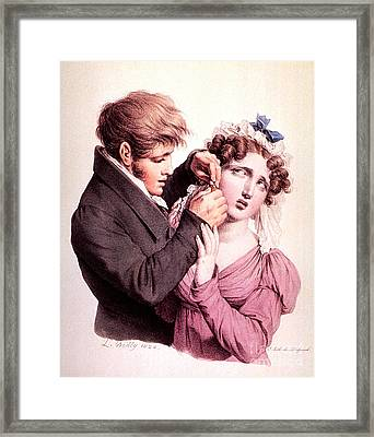 The Culture Of Beauty, Ear Piercing Framed Print by Science Source