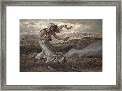 The Cumaean Sibyl Framed Print by Elihu  Vedder