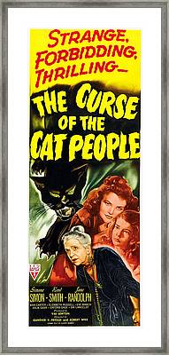 The Curse Of The Cat People, Clockwise Framed Print by Everett