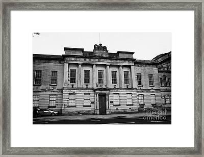 The Custom House Building Clyde Street Glasgow Scotland Uk Framed Print by Joe Fox