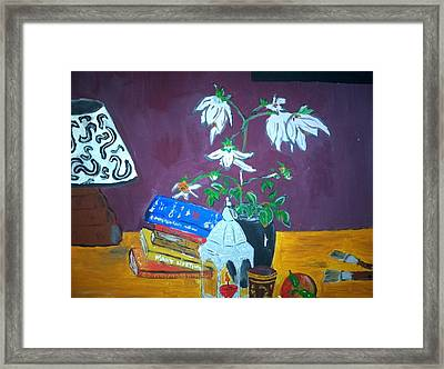 The Dahlia Tree Framed Print by Julie Butterworth