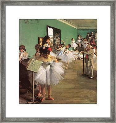 The Dance Class Framed Print by Edgar Degas