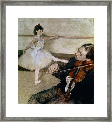 The Dance Lesson Framed Print by Edgar Degas
