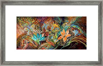 The Dance Of Lizards Framed Print by Elena Kotliarker