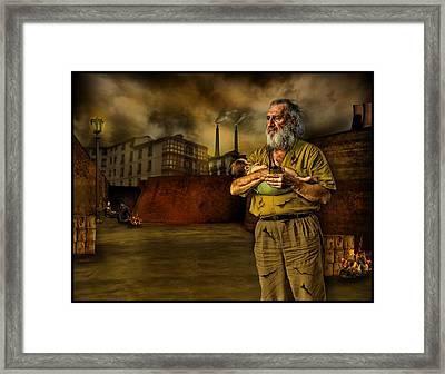 The Dark City's Homeless Framed Print by Raul Villalba