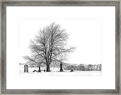 The Dead Of Winter Framed Print by Jak of Arts Photography