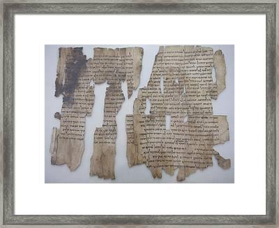 The Dead Sea Scrolls Framed Print by Taylor S. Kennedy