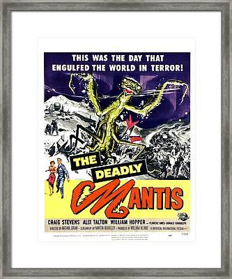 The Deadly Mantis, Bottom From Left Framed Print by Everett