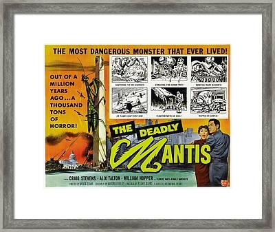The Deadly Mantis, Bottom Right Framed Print by Everett