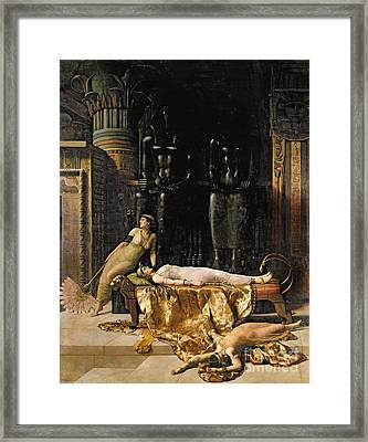The Death Of Cleopatra  Framed Print by John Collier