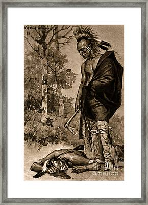 The Death Of Pontiac, 1769 Framed Print by Photo Researchers