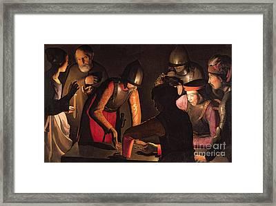 The Denial Of Saint Peter Framed Print by Georges De La Tour