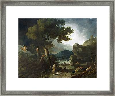 The Destruction Of Niobe's Children Framed Print by Richard Wilson
