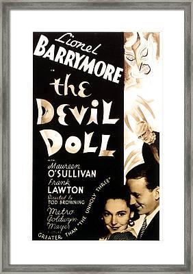 The Devil Doll, Maureen Osullivan Framed Print by Everett