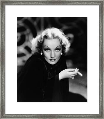 The Devil Is A Woman, Marlene Dietrich Framed Print by Everett