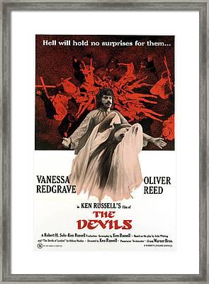 The Devils, Oliver Reed Back, Vanessa Framed Print by Everett