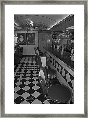 The Diner B And W Framed Print by Cheri Randolph