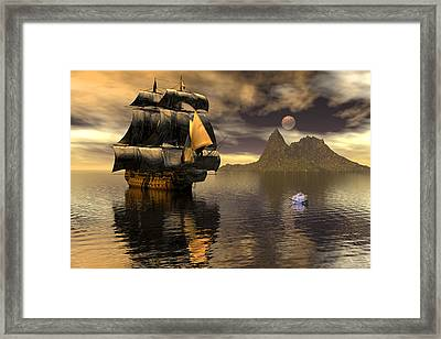 The Diver Framed Print by Claude McCoy