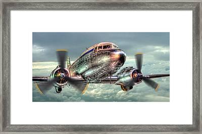The Douglas C47 Dakota - Hdr Framed Print by Colin J Williams Photography