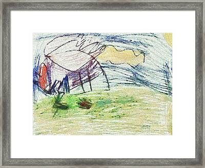 The Drawing Work Framed Print by Odon Czintos